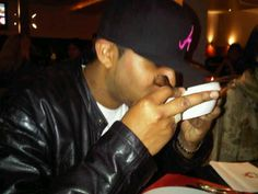 Restaurant. No manners, drinking soup  #restaurant #soup #drinking #dutchhustlaz #snapback #leather #jacket #goingout