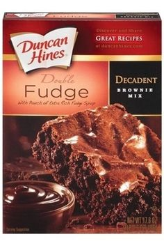 Junk Food Duncan Hines Decadent Double Fudge W/Pouch of Extra Rich Fudge Syrup Brownie Mix, Oz - Dairy Free Brownies, Dairy Free Treats, Dairy Free Diet, Dairy Free Food List, Dairy Free Desserts, Vegan Treats, Vegan Snacks, Vegan Desserts, Lactose Free Recipes