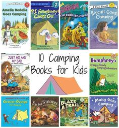Camping Books for Kids. Tons of Fun Camping Themed Activities for Kids {With Free Printable} Camping Books, Go Camping, Camping Games, Camping Equipment, Camping Guide, Family Camping, Truck Camping, Camping Chairs, Camping Checklist