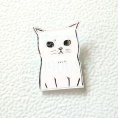 Badges 1 Pcs Cartoon Cute White Cat Metal Brooch Button Pins Denim Jacket Pin Jewelry Decoration Badge For Clothes Lapel Pins To Enjoy High Reputation In The International Market Apparel Sewing & Fabric