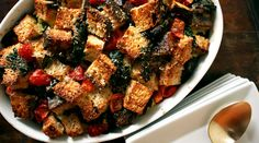 Kale and Tomato Bread Pudding | Recipes - PureWow