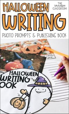 Halloween fun writing activity that is fun for elementary school students. Fall photo prompt writing cards and publishing papers. Fun fall activity for second grade, third grade, fourth grade, and more. Great for work on writing center or whole group writing project. Halloween Speech Therapy Activities, Fun Writing Activities, Fun Fall Activities, Fourth Grade, Second Grade, Classroom Resources, Classroom Ideas, 1st Grade Centers, Writing Photos