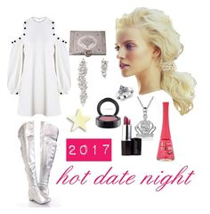 """2017 Hot Date Night"" by michelle858 ❤ liked on Polyvore featuring Alexis, Monique Péan, Laura Mercier, MAC Cosmetics and Bourjois"