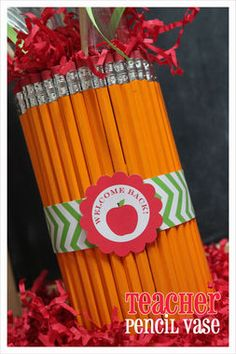 Must pin for teachers! How to make a pencil vase! http://thestir.cafemom.com/big_kid/173126/6_terrific_teacher_gifts_kids