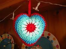 Conejito Momia: Crochet simple Sunburst Tutorial Corazón