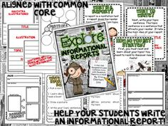 Explore Informational Reports Unit: 27 pgs and $4 at my TpT store!