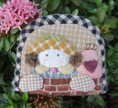 Handmade qirl quilt applique fabric wallet coin pouch purse mini zipper bag #Handmade #coinpurse
