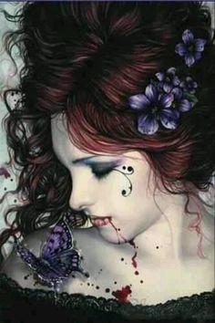 Victoria Frances vampire fantasy art