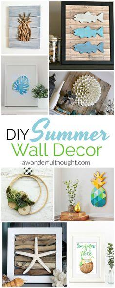 DIY Summer Wall Decor | awonderfulthought.com