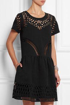 SEA | Cutout embroidered stretch-crepe dress | NET-A-PORTER.COM