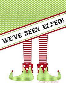 "Fabulous Features by Anders Ruff Custom Designs: {Free Printable} ""You've Been Elfed"" Door Signs and Instructions"