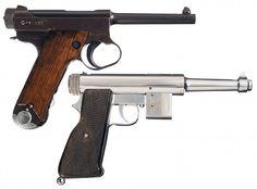 Two Semi-Automatic Pistols -A) Late WWII Japanese Type 14 Large Trigger Guard Nambu Semi-Automatic P