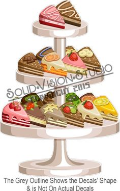 "20"" Cakes & Pies Stand Decal Bakery Window Food Truck Restaurant Concession Sign #SolidVisionStudio"