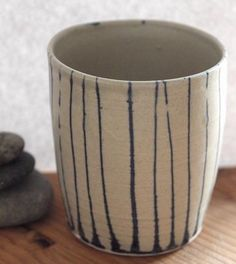 Stripe Painted Porcelain Mug | Home Dining & Tableware | Gilbertson Studio | Scoutmob Shoppe | Product Detail