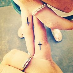 Pin for Later: 55 Creative Tattoos You'll Want to Get With Your Best Friend Cross My Heart