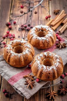 caramel à la fleur de sel: Threef n. 8: Spiced Carrot Mini Bundt Cake