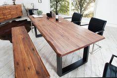 Jedálenská lavica z masívneho agátového dreva GENISIS 180.