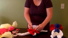 How to make a Dishtowel Angel (Towel Art) for Mother's Day