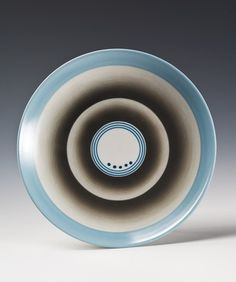 Plate by Nora Gulbrandsen for Porsgrund Porselen. Production year between 1930 and 1933.