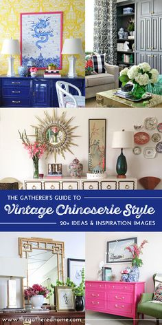 Do you love Chinoiserie and Hollywood Regency style? You will not want to miss this post chock full of gorgeous eye candy and ideas for adding a little (or a lot) of Chinoiserie to your space! Need inspiration for a Chinoiserie furniture makeover? Find it here too!