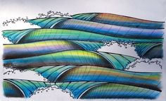 waves  waves  waves  waves.. surf-art... I like it...and would be a cool tattoo