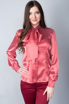 Pussy Bow Satin Blouse - ShopStyle