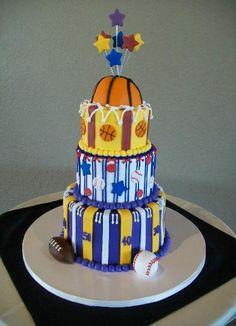 Sports Tier Cake