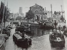 Rotterdam, Canal Boat, Vintage Photography, Holland, Paddle, Dutch, River, City, Pictures