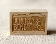 camera do not bend stamp | Wit & Whistle