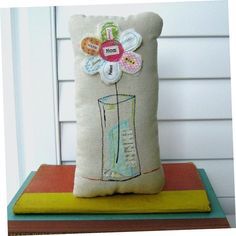 Fabric Flower Mom flower pillow Mother's Day от tracyBdesigns