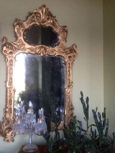 Specchiera dorata 1800