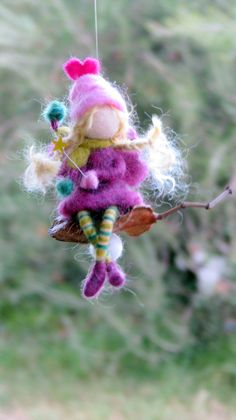Christmas Angel ornament Tree ornament Fairy ornament Needle felted fairy Waldorf inspired doll Home decor Angel ornamnet Christmas Angel Ornaments, Christmas Fairy, Felt Ornaments, Felt Christmas, Ornament Tree, Felted Wool Crafts, Felt Crafts, Needle Felted Animals, Needle Felting