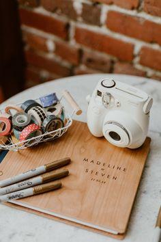 Industrial Wedding Inspiration Polaroid guest book with washi tape selection Creative Wedding Favors, Inexpensive Wedding Favors, Elegant Wedding Favors, Wedding Gifts For Guests, Handmade Wedding, Wedding Favours, Rustic Wedding, Small Elegant Wedding, Modern Wedding Ideas
