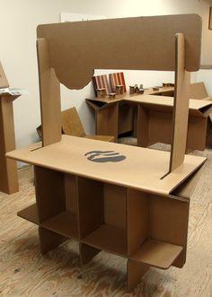 Cardboard cookie booth - back side