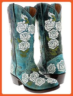 Cowboy Professional - Women's Turquoise Rosal Western Leather Cowboy Boots Round Toe 9.5 BM - Boots for women (*Amazon Partner-Link)