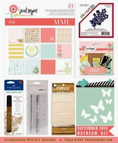 SCRAPBOOKING WITH M.E.: Monthly kits for sale