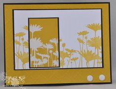stampin up upsy daisy, love this idea with the negative and could combine it with the cut out thanks I think