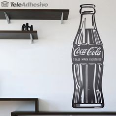 Decorative vinyl replica of the famous work of Andy Warhol Coca Cola Kitchen, Kitchen Wall Decals, White Box, Arte Pop, Room Tour, Andy Warhol, Coco, Wall Murals, Wall Stickers