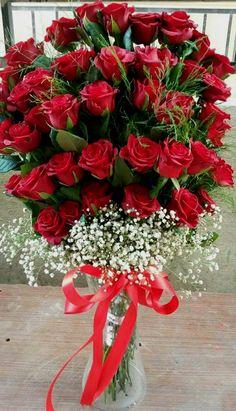 Beautiful Flowers Pictures, Beautiful Flowers Wallpapers, Beautiful Rose Flowers, Red Flowers, Red Roses, Rose Flower Arrangements, Christmas Flower Arrangements, Happy Birthday Flower, Birthday Roses