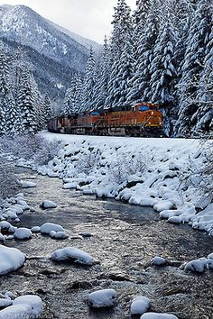 Winter Wonderland by DWHonan on Flickr. pinned for my 2 year old son who's totally in love with trains. : )