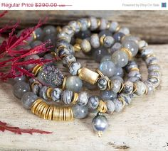 Mothers Day Sale SET OF FOUR stretch by AlisonStorryJewelry