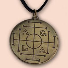 """This AGLA lucy-charm which has a curse defensing, exorsist, fever calming and healing effect, had originally appeared in a grimoire or Book of Spells. The magical sign AGLA which had been created by a kabbalist method called notaricon, is made up from the first letters of the prayer formula """"Atha gibor leolam Adonai"""" (Your power is eternal, my Lord). AGLA is a common element of the pictures, talismans, notes and magic spells of magical books, for example of the one issued by Pope Leo III…"""