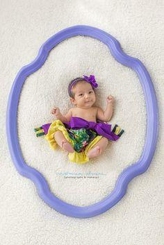 Newborn with frame
