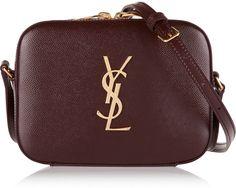 Saint Laurent Mongramme Textured-Leather Camera Bag