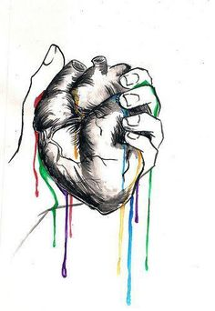 Interesting Drawing of a Heart