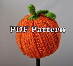 PDF PATTERN - Crochet Little Pumpkin Hat - Etsy