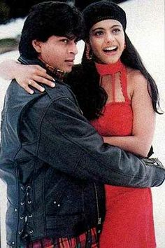 Shah Rukh Khan and Kajol on the sets of Dilwale Dulhania Le Jayenge - DDLJ - (1995)