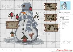 More than 20 Special Inspiring ideas For Snowman Cross Stitch Pattern, Counted Cross Stitch Patterns, Cross Stitch Charts, Cross Stitch Embroidery, Embroidery Patterns, Cross Stitch Christmas Ornaments, Christmas Embroidery, Christmas Cross, Small Cross Stitch