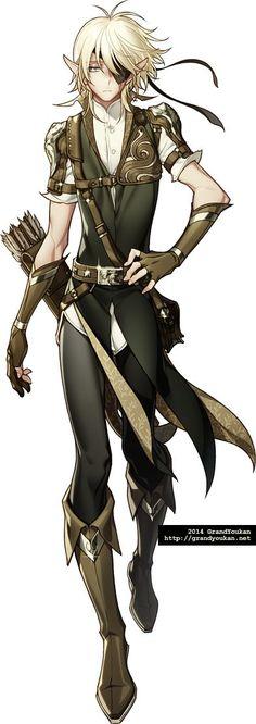 Image result for anime male half-elf