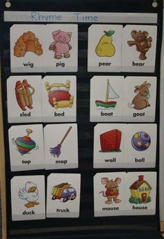 Rhyme Time Pocket Chart